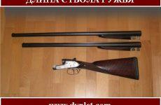 Длина ствола ружья. Оптимальный вариант для охоты